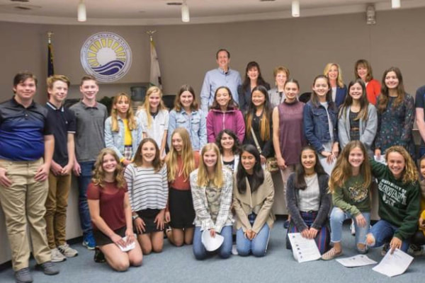 Earl Warren Middle School SWPPP interns present to Solana Beach City Council
